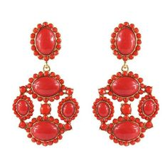 Feminine Red Artificial Gemstone Dangle Earrings ($8.98) ❤ liked on Polyvore featuring jewelry, earrings, red, accessories, artificial jewelry, gemstone jewelry, fake earrings, gemstone earrings and imitation jewelry