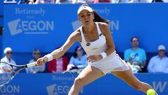 Agnieszka Radwanska will meet Belinda Bencic in the Eastbourne International final after Caroline Wozniacki withdraws with an injury. Sloane Stephens, Caroline Wozniacki, Bbc Two, Lawn Tennis, Tennis Clubs, Wimbledon, Finals, It Hurts, Champion