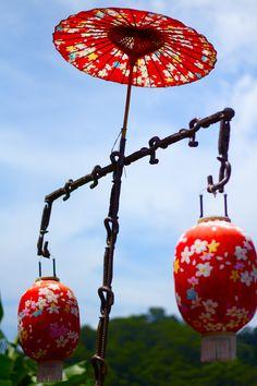 Unique umbrella lanterns in Miaoli, Taiwan