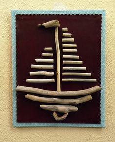 Twig Crafts, Seashell Crafts, Beach Crafts, Diy Arts And Crafts, Handmade Crafts, Driftwood Projects, Driftwood Art, Twig Art, Paper Crafts Magazine