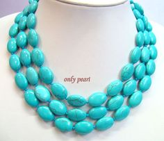 Turquoise Necklace 51inches 1318mm Chunky long by OnlyPearl, $15.90 i'm in love!