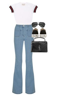 Sem título #1503 by oh-its-anna on Polyvore featuring moda, Gucci, Michael Kors, Converse and Yves Saint Laurent