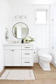 Home Interior Living Room .Home Interior Living Room Mini Loft, Bad Inspiration, Bathroom Inspiration, Tongue And Groove Walls, Bathroom Trends, Bathroom Ideas, Wood Floor Bathroom, White Bathroom Cabinets, Master Bathroom