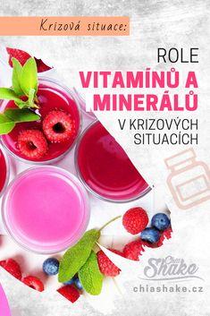 Role vitamínů a minerálů v krizových situacích - Chia Shake - Žijte zdravě! Smoothies, Watermelon, Healthy Recipes, Fruit, Vegetables, Food, Veggies, Essen, Smoothie