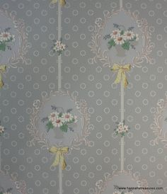 Vintage Wallpaper Blue with white daisy by HannahsTreasures Daisy Wallpaper, Shabby Chic Wallpaper, Love Wallpaper, Fabric Wallpaper, Wallpaper Ideas, Antique Wallpaper, Art Deco Pattern, Pattern Design, Vintage Floral Wallpapers