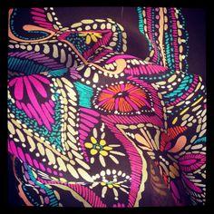 Our #trinaturk Pick Stitch Paisley Silk Chiffon...