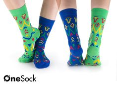 OneSock - St. Louis Green & Blue