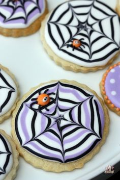 stunningly beautiful halloween cookies.  These spider web cookies are just the tip of the iceberg!