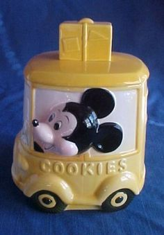 Mickey Mouse 1950's cookie jar Car Cookies, Disney Cookies, Biscuit Cookies, Vintage Mickey Mouse, Minnie Mouse, Antique Cookie Jars, Teapot Cookies, Kitchen Jars, Kinds Of Cookies