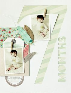 Awesome Scrapbook Layout   Negative oversized cut-out...love this