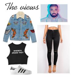 """""""The views"""" by swiftswimmer ❤ liked on Polyvore featuring Gucci, adidas, men's fashion, menswear, DRAKE, views and 60secondstyle"""