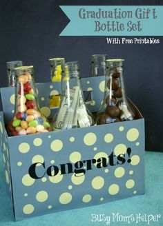 Graduation Gift Bottle Set with Free Printables