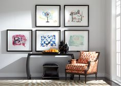His Master's Voice is one of the collages we offer at Ethan Allen. Modern, funky, and colorful! A great way to emphasize a space that has a neutral background!