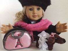 """Siamese Kitten for American Girl Doll 18/"""" Accessories Fit Pet SET Knockoff"""