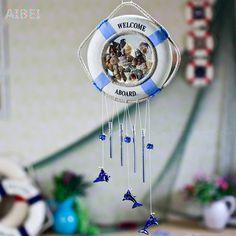 В средиземноморском стиле ветер куранты творческий милый спасательный круг снаряды ветер куранты свадебный декор для дома повесить украшают двери подарки и ремесла, принадлежащий категории и относящийся к на сайте AliExpress.com   Alibaba Group