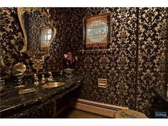 want to  do the main bath black and gold lol im 4 real : )