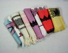 Vintage Huck Embroidered Cotton Linen by vintagefindsetcetera, $10.00
