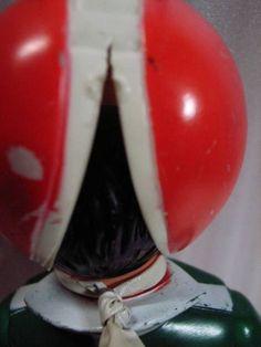 売切 旧バンダイ 面取れ 仮面ライダーV3 ソフビ人形 特撮怪人系_画像3