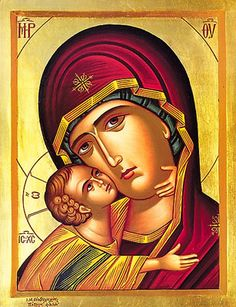 "The mother of the messiah has been called many things in the last 2000 years –the Virgin Mary, Our Lady, the Blessed Mother. But call her ""the Mother of God,"" a Religious Images, Religious Icons, Religious Art, Madonna, Greek Icons, Russian Icons, Blessed Mother Mary, Byzantine Icons, Orthodox Christianity"