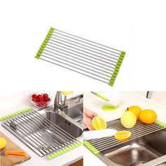 Cheap sink rack, Buy Quality kitchen sink rack directly from China sink rack stainless Suppliers: Foldable  Kitchen Sink Rack Stainless Steel Dish Cutlery Drainer Drying Holder Useful Kitchen Tools