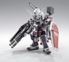 GUNDAM GUY: SD + HG FA-78 Full Armor Gundam - Customized Build