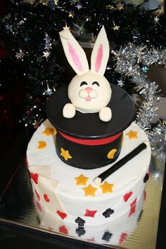 For everyone who has re-pinned the magician's cake - this is how mine turned out.