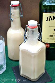 Homemade Irish Cream With Heavy Cream, Sweetened Condensed Milk, Irish Whiskey, Coffee Granules, Vanilla Extract, Almond Extract, Unsweetened Cocoa Powder