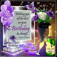 Happy Birthday Cousin, Happy Birthday Greetings Friends, Happy Birthday Wishes Cake, Happy Birthday Pictures, Birthday Blessings, Happy Birthday Messages, Card Birthday, Birthday Wishes Flowers, Happy Birthday Flower