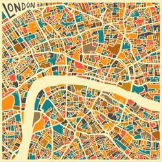 GEOMETRIC PATTERNS IN ORIGINAL GRAPHICS CITY MAPS BY JAZZBERRYBLUE