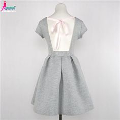 Gagaopt Casual Women Dresses Midi Sexy Bow Open Back Space Cotton Vintage Dresses Robe Femme
