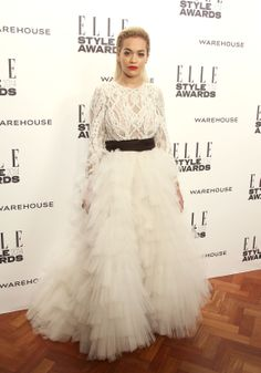 Rita Ora at the ELLE Style Awards in Marchesa Fall 2014