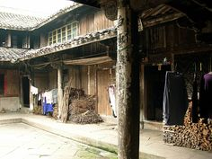 """This is a photo of a traditional Chinese """"courtyard"""" house.  I love this concept, which is shared by other cultures, and like the Chinese spin.  Though this is an old house it's got a lot of character."""
