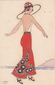 1920s Fashion Postcard ~ LÁMINAS VINTAGE, ANTIGUAS, RETRO Y POR EL ESTILO.... (pág. 808)