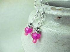 Pink Crystal Earrings Crystal Bridesmaid by LKMJewelryDesigns, $5.00