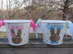 Personalized Easter bucket by DottedDesigns