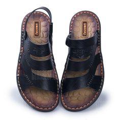 Sandales en cuir souple en microfibre pour homme