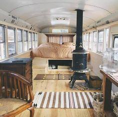 Amazing Tiny House Bus Living Conversion Ideas 10 — Home Decor Ideas Bus Living, Living Area, Bus Life, Camper Life, Truck Camper, Camper Van, Mini Van, Bus Remodel, School Bus Tiny House