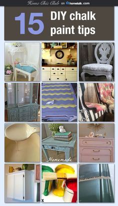 DIY and Crafts: Best homemade DIY Chalk Paint recipes, tips and pr...