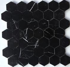 Sort Nero Marmor 5cm Hexagon Ulfven