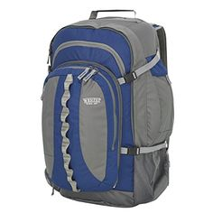 Wenzel Traveler Pack Blue 23 x 12 x >>> You can find more details by visiting the image link. (This is an affiliate link and I receive a commission for the sales) Hiking Tips, Camping And Hiking, Cool Backpacks, Camping Accessories, Hiking Backpack, North Face Backpack, Day Trip, Packing, Blue