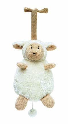Spieluhr - Schaf Lammy - Schäfchen zählen hilft beim Einschlafen. - Maße: 16 cm - Melodie: Schlaf Kindlein schlaf