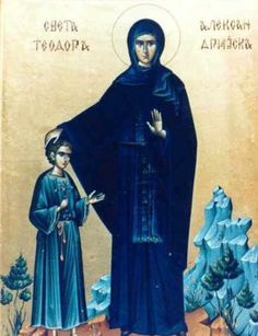 Science of the Saints, Sep.), St Theodora Of Alexandria World C, Night Prayer, 11. September, The Monks, The Brethren, Orthodox Icons, Falling Down, Alexandria, Holy Spirit