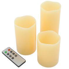 Velas de cera sin llama (LED)