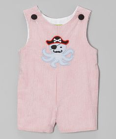 Another great find on #zulily! Red Stripe Pirate Octopus John Johns - Infant  Toddler by Stellybelly #zulilyfinds
