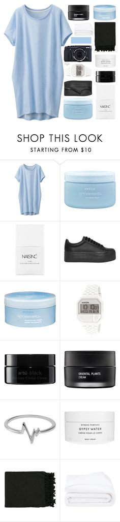 """""""WE CAN BURN BRIGHTER"""" by constellation-s ❤ liked on Polyvore featuring Uniqlo, Aveda, Nails Inc., Jeffrey Campbell, Nixon, arbÅ«, Koh Gen Do, Fujifilm, Jewel Exclusive and Byredo"""