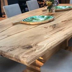 Luxury Dining Tables, Oak Dining Table, Dining Table Design, Rustic Table, Dining Room, Timber Table, Wood Table, Timber Wood, Esstisch Design