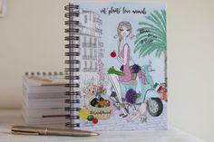 Vegan gift vegan notebook vegan illustration vegan for her Happy Planner Cover, Mini Happy Planner, Arc Planner, Planner Pages, Vespa Illustration, Vegan Gifts, Journalling, Trip Planning, Notebooks