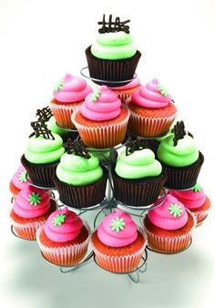 Cute colorful cupcakes