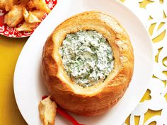 This is one retro recipe that never goes out of style, a cob loaf filled with spinach dip is always a huge party hit.