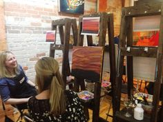 Getting creative with wine and painting at Fresh Paint Studio + Cafe